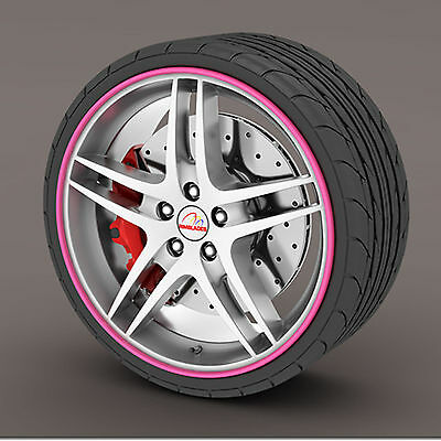 Pink Rimblades Alloy Wheel Edge Ring Rim Protectors Tyres Tire Guard Rubber