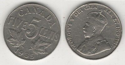 Canada 5 Cents 1935 #Mm108