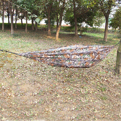1 x Foldable Outdoor Travel Camping Parachute Hammock Bed Camo