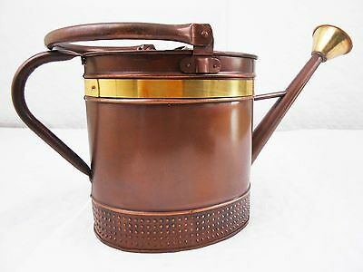 9L Vintage Bronze & Gold Metal Watering Can with Handle