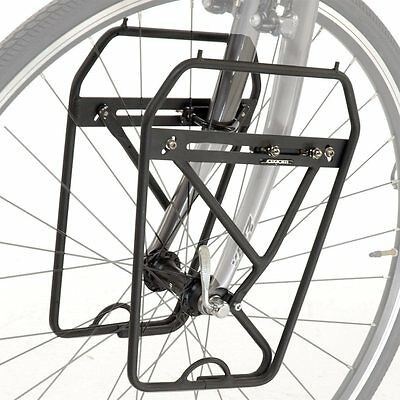 Axiom Journey Deluxe Front Bike / Cycle Pannier Rack  Black