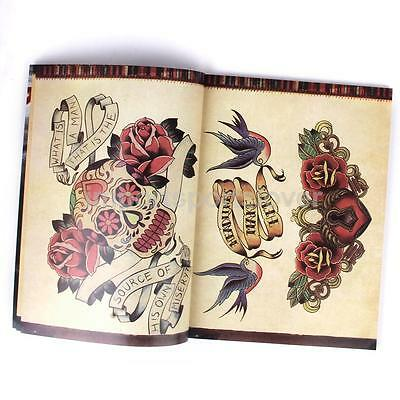 108 Pages Various Skull Flower Animals Design Tattoo Book Sheet Drawing