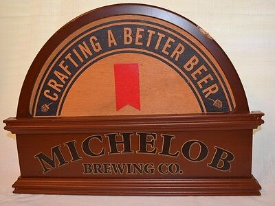 """Michelob Brewing Co. Wood Sign """" Crafting a Better Beer """""""
