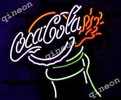 New COKE COLA COCA BOTTLE Real Neon Sign Soda Drink Advertising Light Fast Ship