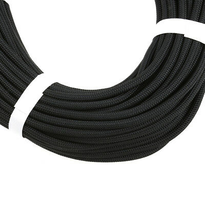 50m Outdoor Hiking Climbing Rappelling Auxiliary Rope Cord Equipment - Black