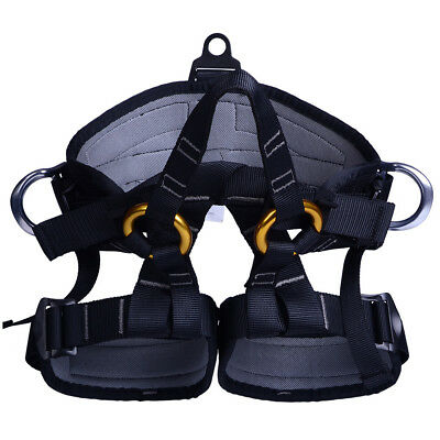 1 x Rock Tree Climbing Rappelling Safety Seat Harness Sitting Belt Protector