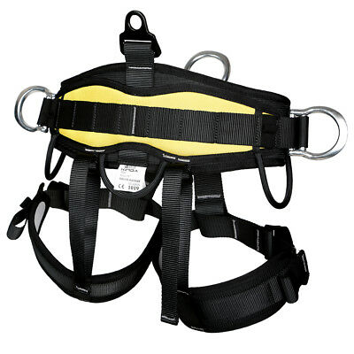 Half Body Safety Harness Rock Tree Climbing Rappelling Equipment - Yellow