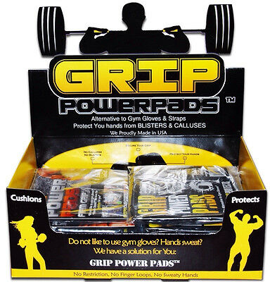 Gym Gloves PRO GRIP POWER PADS®  Lifting Grips Workout Gloves Grip Pad NEW