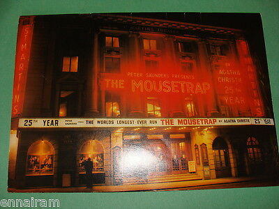 Agatha Christie The Mousetrap Peter Saunders Presents the First 25 Years 1979