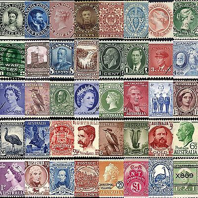 320 rare vintage postage stamps of Canada, Australia and New Zealand on one DVD