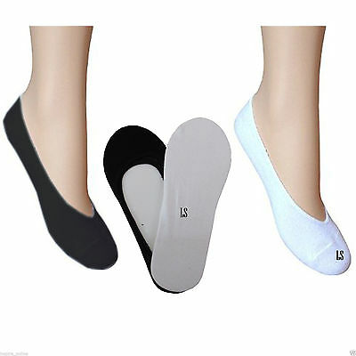 Ladies/Womens Invisible Trainer Socks Footsies Shoe Liner Pack of 3 & 6