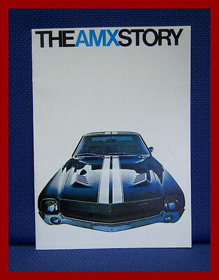 1968 American Motors AMX STORY Color Sales Brochure - New Old Stock