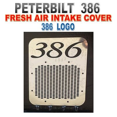 Peterbilt 386 Fresh Air Intake Cover- With Logo