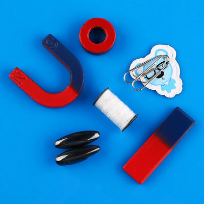 Magnets field teaching education tool set horseshoe magnet + ring magnet Toy New