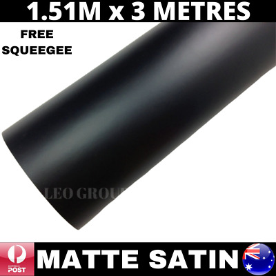 1.52M X 3M Matte Matt Satin Black Premium Quality Car Vinyl Wrap Film Bubblefree