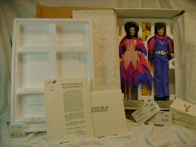 Porcelain Donny and Marie Osmond Collector Dolls