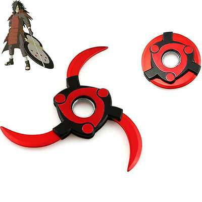 Anime NARUTO Uchiha Madara Sharingan Rotatable Shuriken Metal Kunai Cosplay Gift
