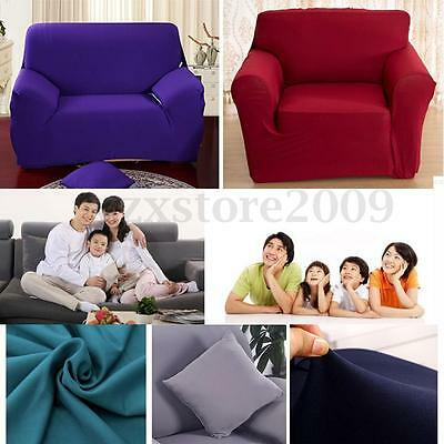 1/2/3 Seater Removable Lounge Sofa Armchair Couch Cover Slipcover Stretch Fabric