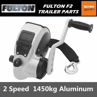 Fulton F2 Boat Trailer Hand Winch Manual 2 Speed 1.45t aluminum strap FW32000101
