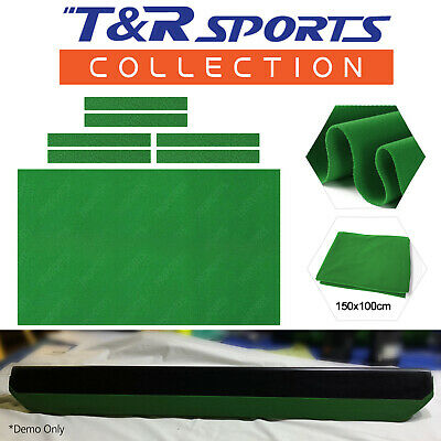 6x Single Side Green Cloth Strip for Pool Snooker Billiard Table Cushion 7FT 8FT