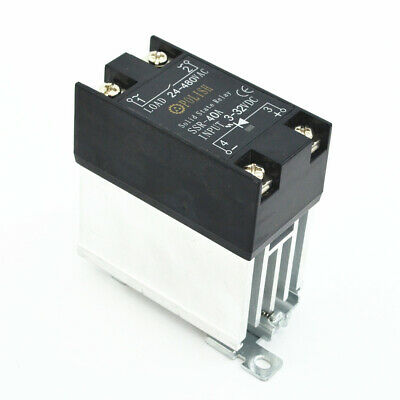 Solid State Relay SSR-40 DA 40A 3V-32VDC Heat Sink