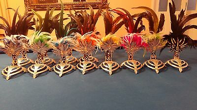 SAMBA Costume Brazil Headpiece 8 Colors Real Feathers Mirror Headdress Carneval