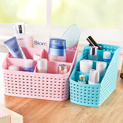 5 Cell Function Storage Box Home Business Organizer Desk Storage Basket