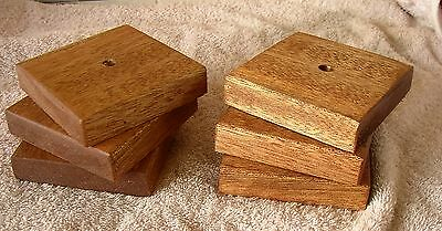 """6 x Fence Post caps - Hardwood - for 3"""" fence posts or decking tops"""