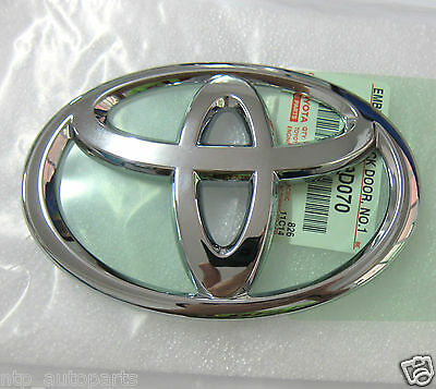 13 x 9 cm GENUINE TOYOTA BADGE EMBLEM LOGO MODIFIED TO FITS FRONT TRUNK TAILGATE