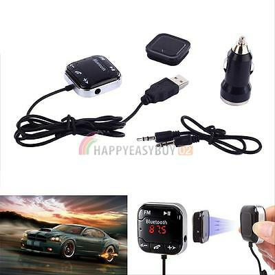 Bluetooth FM Transmitter Car Kit USB Charger SD MP3 Player Handsfree Magnetic