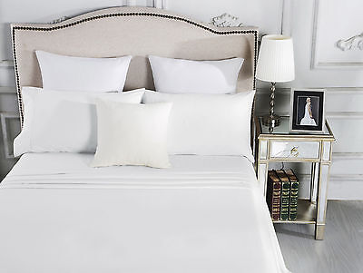 500TC Egyptian Cotton Sheet Set Fitted Flat Pillow Case Queen King Double KSB SB