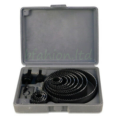 16Pcs Holesaw Kit Hole Drill Cutter Set Plumber Kitchen Fitter for Cutting Wood