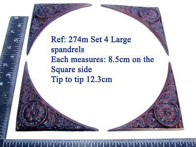 "274m ""Set of 4 spandrels"" for Vienna regulator clock cases, DIY* furniture"
