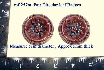 "257m ""Pair circular leaf badges""  Vienna regulator clock cases, DIY* furniture"