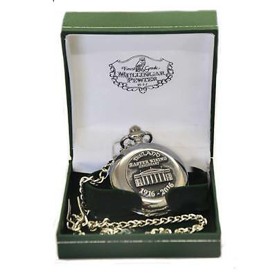 Mullingar Pewter Stainless Steel Pocket Watch With Famous 1916 Design