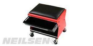 Garage Mechanic Creeper Mobile Work Chair Stool Trolley Seat with Slide Out Tray