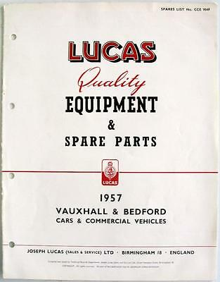 Lucas VAUXHALL/BEDFORD Electrics - Car Equipment & Spare Parts - 1957- CCE904F