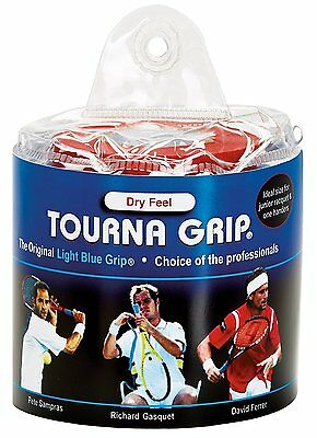 Tourna Grip Original Blue - 30 Pack Pouch Overgrip Overgrips Tennis Badminton