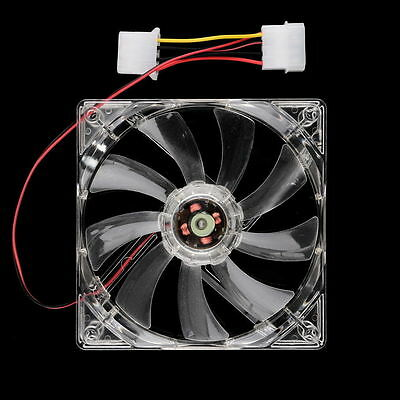4Pin DC 12V 80mm /120mm Blue LED Light CPU PC Computer Cooling Case Fan HA