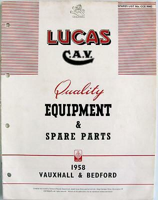 Lucas VAUXHALL/BEDFORD Electrics - Car Equipment & Spare Parts - 1958 - CCE904G