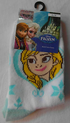 Disney FROZEN Ankle Socks - for Girls Anna Elsa