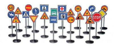 24 Piece Traffic Signs - Plasto Free Shipping!