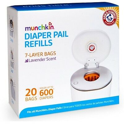 Arm & Hammer Nappy Refills 20 Pack Diaper Pail Refill Bags