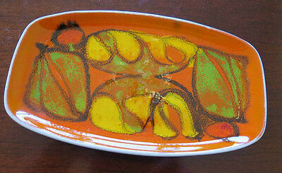 Vintage POOLE England Abstract Mid Century Mod Plate Trivet Serving Dish