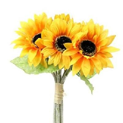 Quality artificial silk flowers large sunflower bundle 7 stems quality artificial silk flowers large sunflower bundle 7 stems mightylinksfo