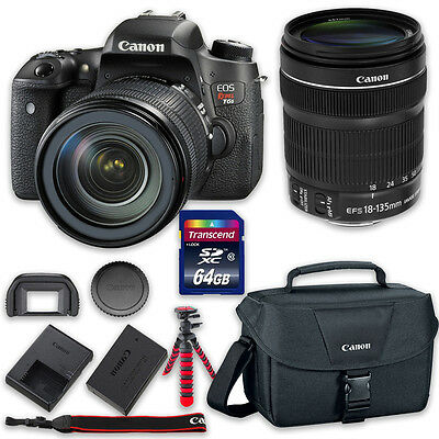 Canon EOS T6s DSLR Camera Bundle with Canon EF-S 18-135mm f/3.5-5.6 IS STM Lens