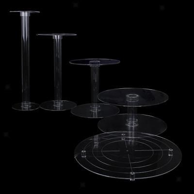 5 TIERs CASCADE CAKE STAND CLEAR ACRYLIC WEDDING BIRTHDAY PARTY DISPLAY NEW