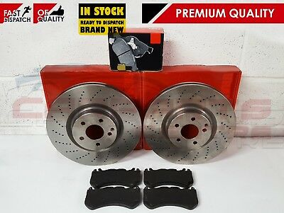 For Mercedes W204 C63 Amg Front Drilled Brake Discs Pads Premium Quality