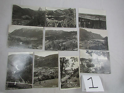 10 Vintage 1940s  Real Photo Postcards different locations in Norway Lot #1