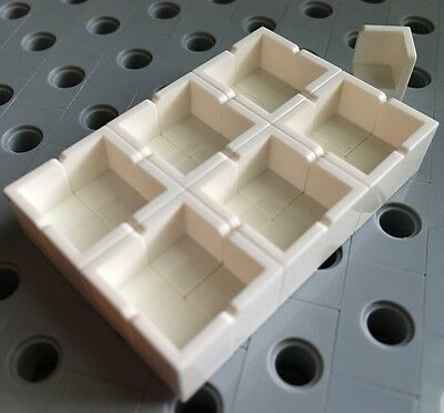 Lego NEW Lot Of 25 Part 6231 1 x 1 x 1 White Corner Panel Wall Brick Tile